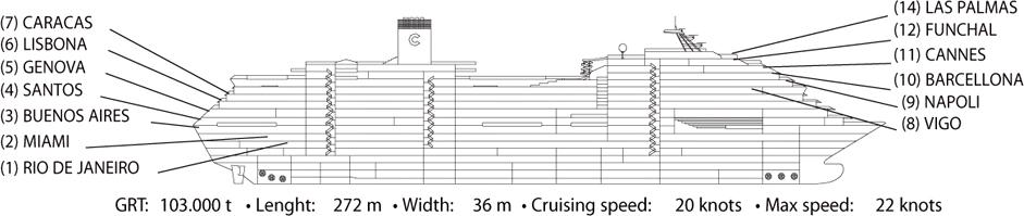 Схема палуб: (для увилечения