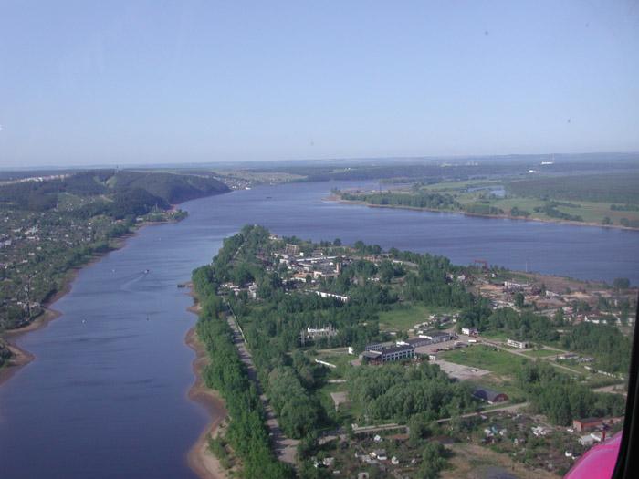 Маршруты речных круизов -река Кама