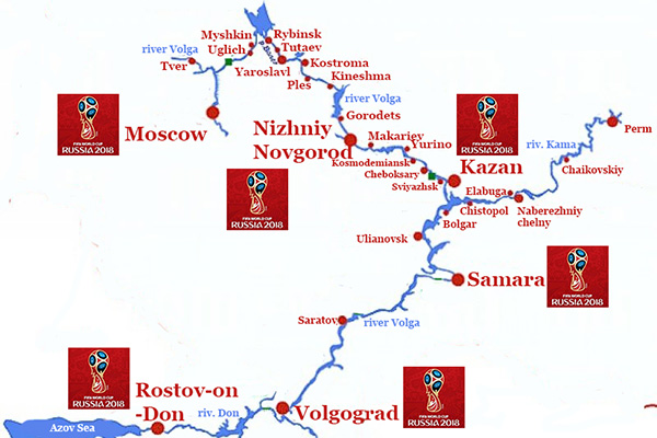 FIFA 2018 Cup River Routes