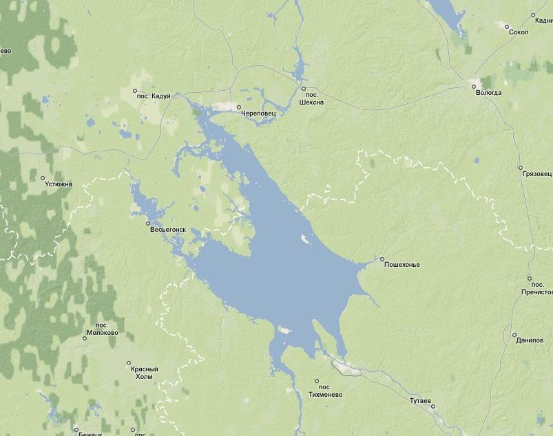 Маршруты речных круизов: Рыбинское водохранилище